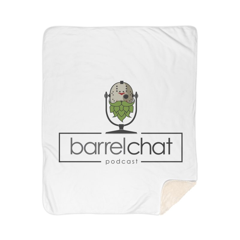 Barrel Chat Podcast - Halloween (Jason Voorhees) Home Sherpa Blanket Blanket by Barrel Chat Podcast Merch Shop