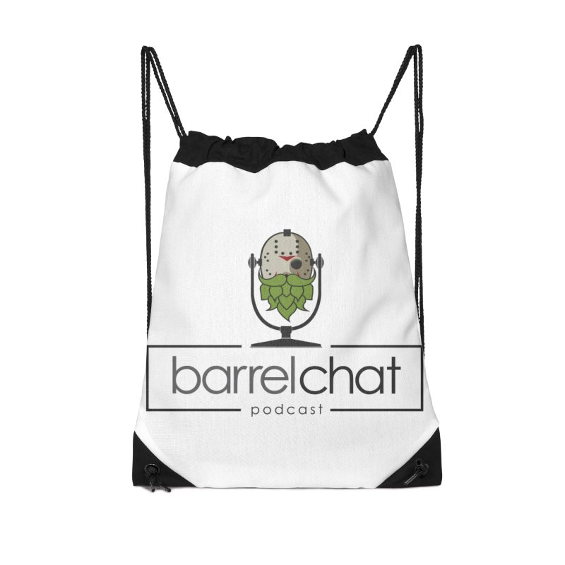 Barrel Chat Podcast - Halloween (Jason Voorhees) Accessories Drawstring Bag Bag by Barrel Chat Podcast Merch Shop