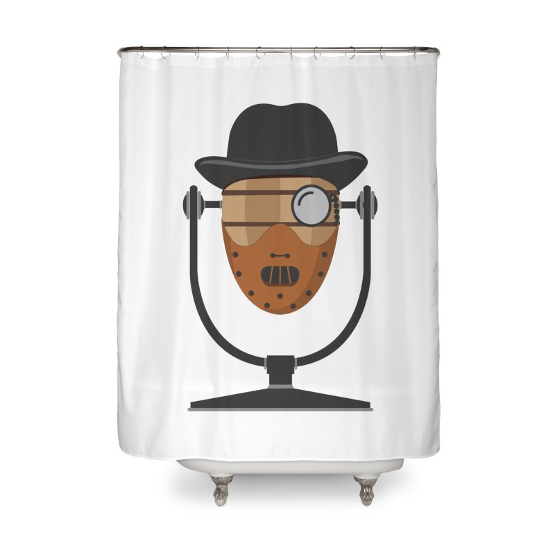 Halloween Hoppy - Hannibal Lecter Home Shower Curtain by Barrel Chat Podcast Merch Shop