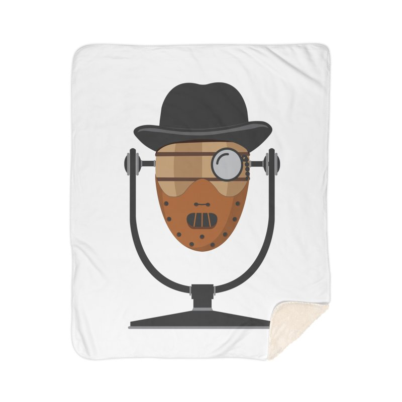 Halloween Hoppy - Hannibal Lecter Home Sherpa Blanket Blanket by Barrel Chat Podcast Merch Shop