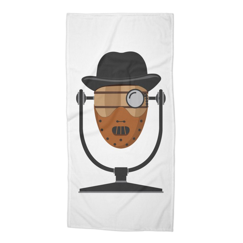 Halloween Hoppy - Hannibal Lecter Accessories Beach Towel by Barrel Chat Podcast Merch Shop