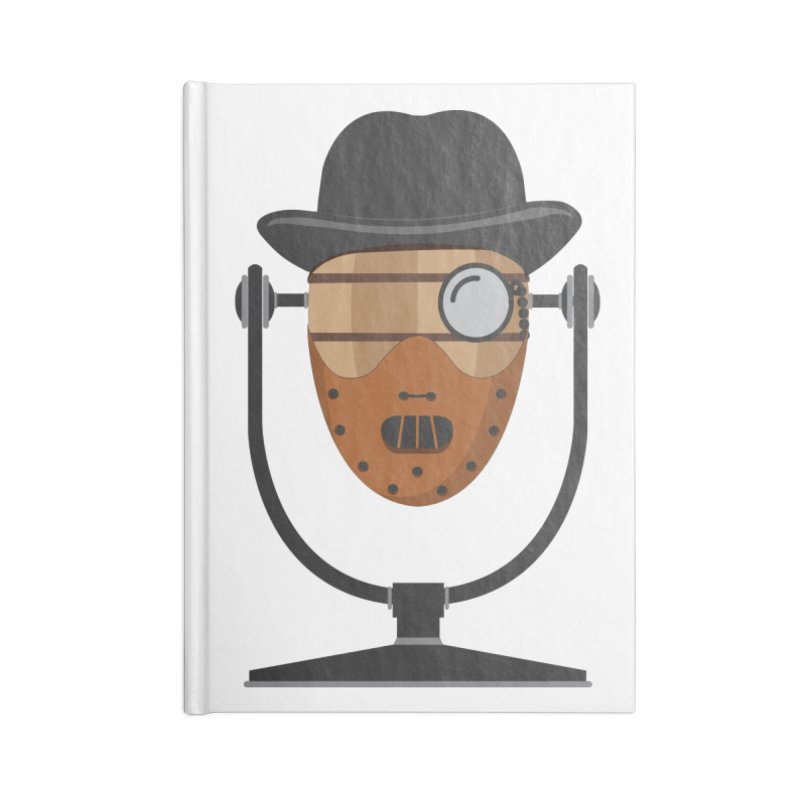Halloween Hoppy - Hannibal Lecter Accessories Blank Journal Notebook by Barrel Chat Podcast Merch Shop