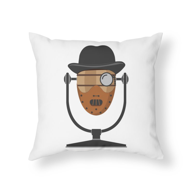 Halloween Hoppy - Hannibal Lecter Home Throw Pillow by Barrel Chat Podcast Merch Shop