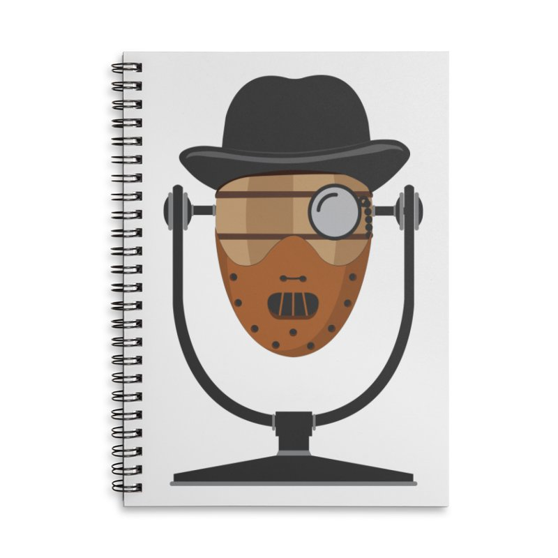 Halloween Hoppy - Hannibal Lecter Accessories Lined Spiral Notebook by Barrel Chat Podcast Merch Shop