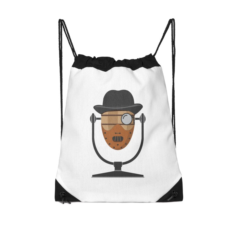 Halloween Hoppy - Hannibal Lecter Accessories Drawstring Bag Bag by Barrel Chat Podcast Merch Shop