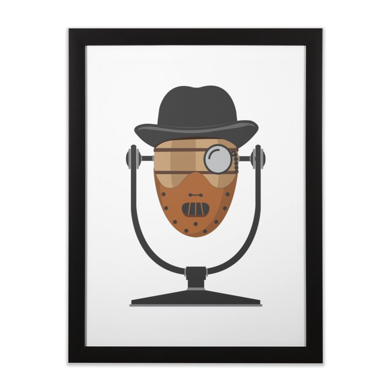 Halloween Hoppy - Hannibal Lecter Home Framed Fine Art Print by Barrel Chat Podcast Merch Shop