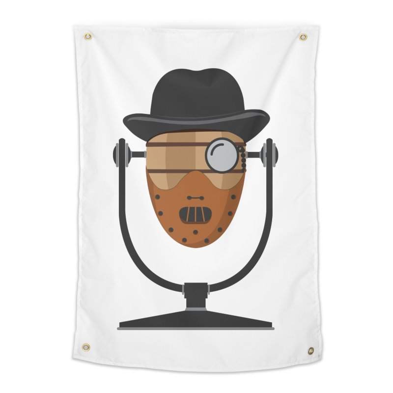 Halloween Hoppy - Hannibal Lecter Home Tapestry by Barrel Chat Podcast Merch Shop