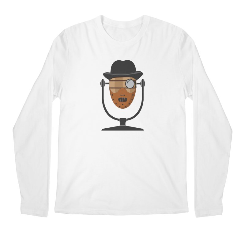 Halloween Hoppy - Hannibal Lecter Men's Regular Longsleeve T-Shirt by Barrel Chat Podcast Merch Shop