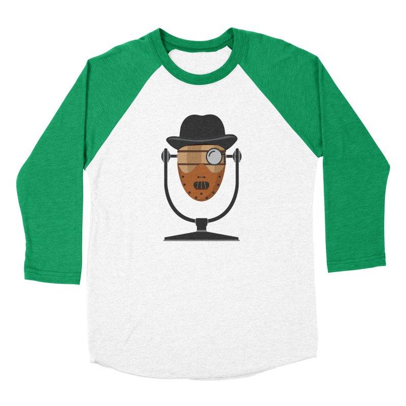 Halloween Hoppy - Hannibal Lecter Women's Baseball Triblend Longsleeve T-Shirt by Barrel Chat Podcast Merch Shop
