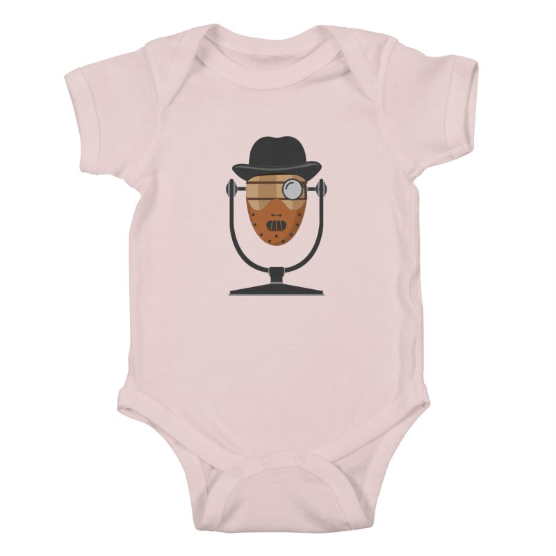 Halloween Hoppy - Hannibal Lecter Kids Baby Bodysuit by Barrel Chat Podcast Merch Shop