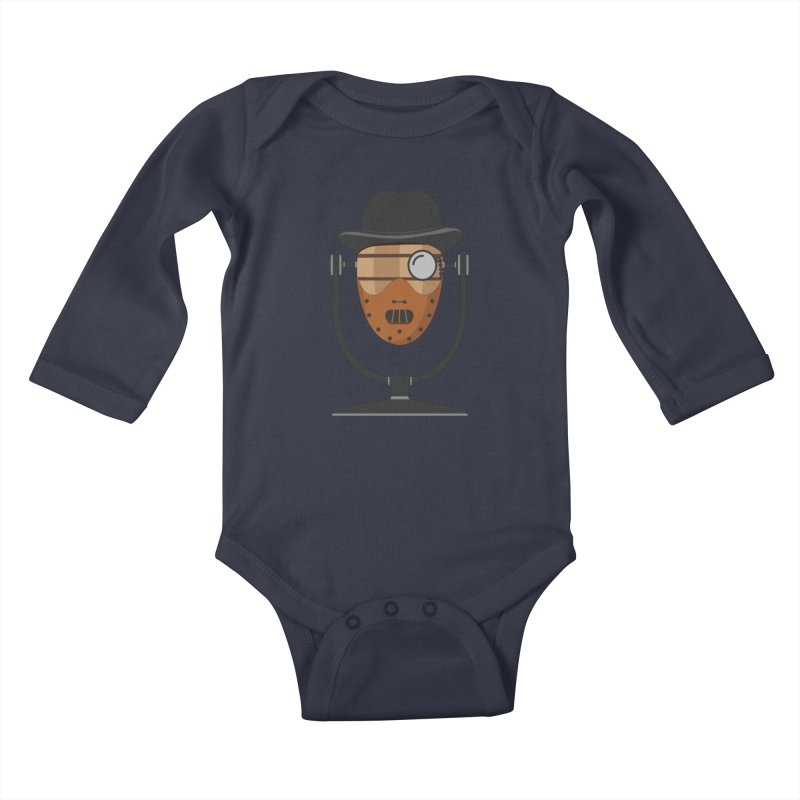 Halloween Hoppy - Hannibal Lecter Kids Baby Longsleeve Bodysuit by Barrel Chat Podcast Merch Shop