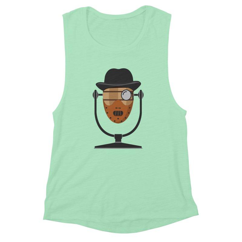 Halloween Hoppy - Hannibal Lecter Women's Muscle Tank by Barrel Chat Podcast Merch Shop
