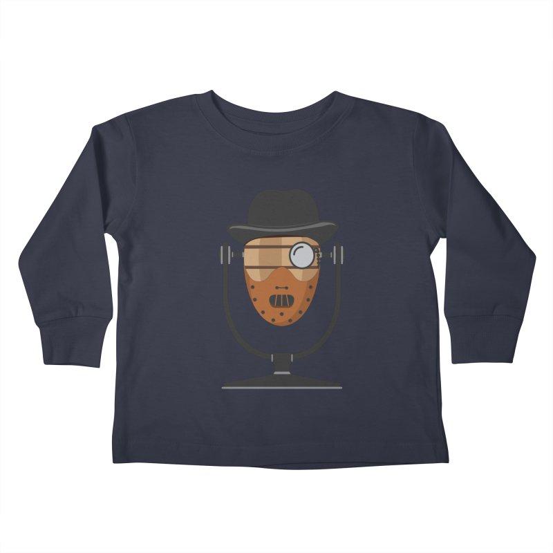 Halloween Hoppy - Hannibal Lecter Kids Toddler Longsleeve T-Shirt by Barrel Chat Podcast Merch Shop