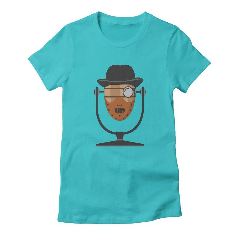 Halloween Hoppy - Hannibal Lecter Women's Fitted T-Shirt by Barrel Chat Podcast Merch Shop