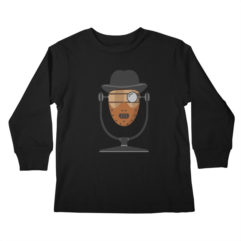 Halloween Hoppy - Hannibal Lecter Kids Longsleeve T-Shirt by Barrel Chat Podcast Merch Shop