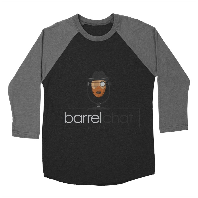Barrel Chat Podcast - Halloween (Hannibal Lecter) Women's Baseball Triblend Longsleeve T-Shirt by Barrel Chat Podcast Merch Shop