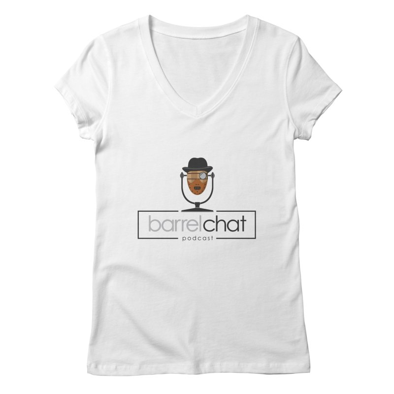 Barrel Chat Podcast - Halloween (Hannibal Lecter) Women's Regular V-Neck by Barrel Chat Podcast Merch Shop