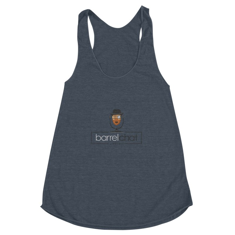 Barrel Chat Podcast - Halloween (Hannibal Lecter) Women's Racerback Triblend Tank by Barrel Chat Podcast Merch Shop