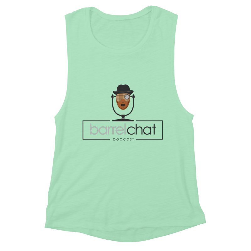 Barrel Chat Podcast - Halloween (Hannibal Lecter) Women's Muscle Tank by Barrel Chat Podcast Merch Shop