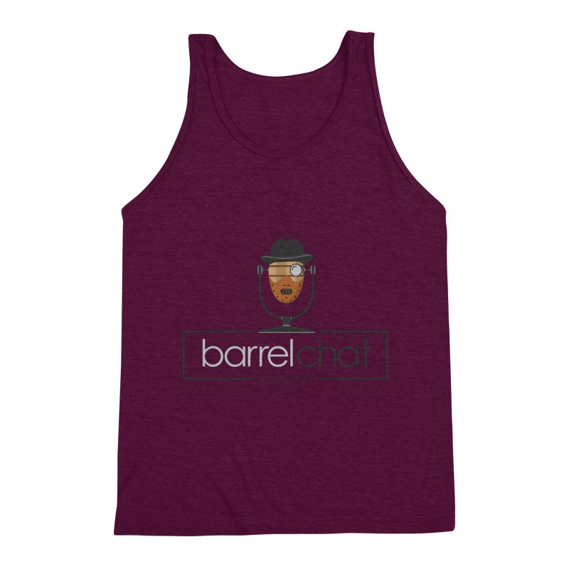 Barrel Chat Podcast - Halloween (Hannibal Lecter) Men's Triblend Tank by Barrel Chat Podcast Merch Shop