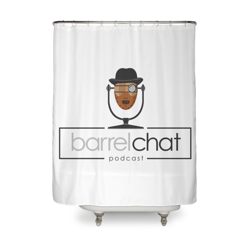 Barrel Chat Podcast - Halloween (Hannibal Lecter) Home Shower Curtain by Barrel Chat Podcast Merch Shop