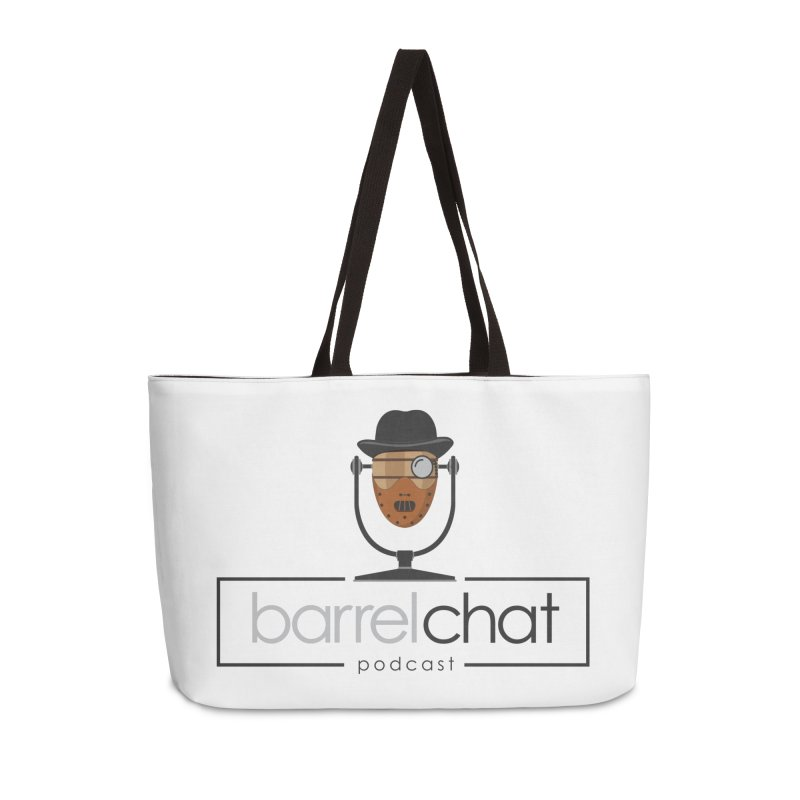 Barrel Chat Podcast - Halloween (Hannibal Lecter) Accessories Weekender Bag Bag by Barrel Chat Podcast Merch Shop