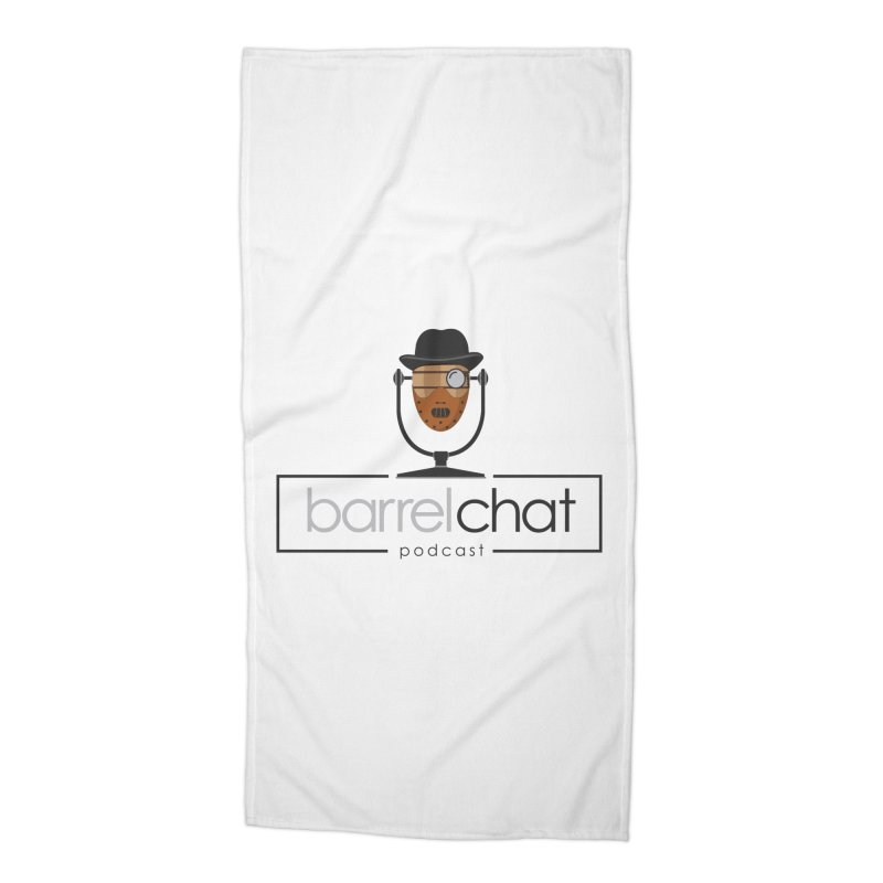 Barrel Chat Podcast - Halloween (Hannibal Lecter) Accessories Beach Towel by Barrel Chat Podcast Merch Shop