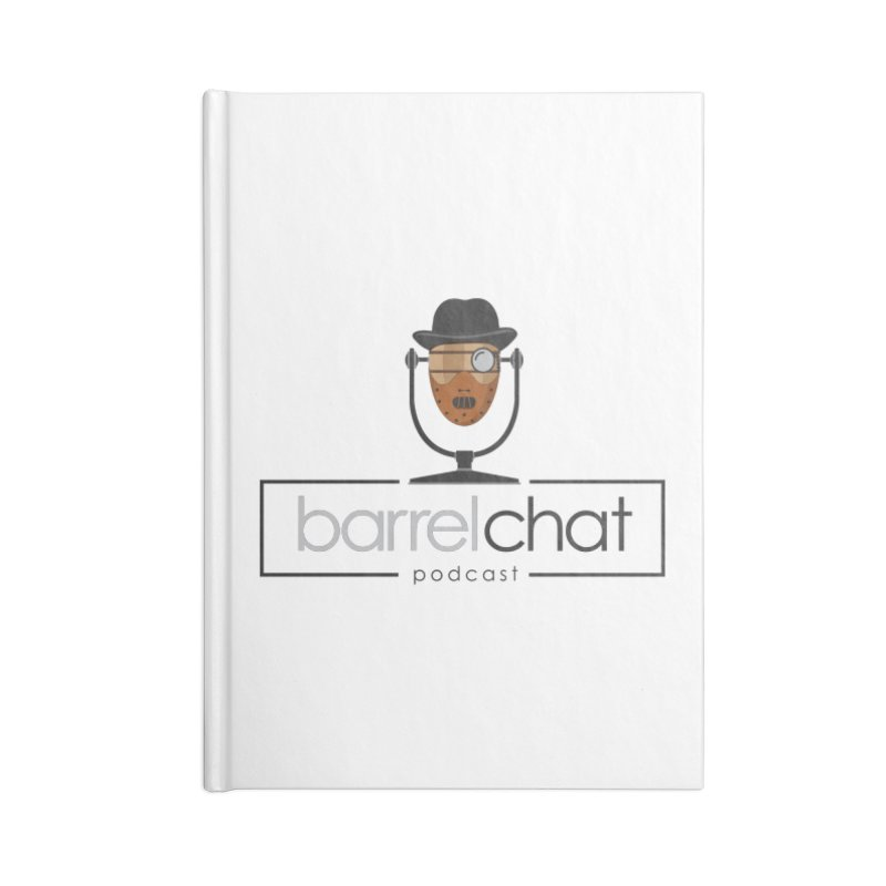 Barrel Chat Podcast - Halloween (Hannibal Lecter) Accessories Blank Journal Notebook by Barrel Chat Podcast Merch Shop