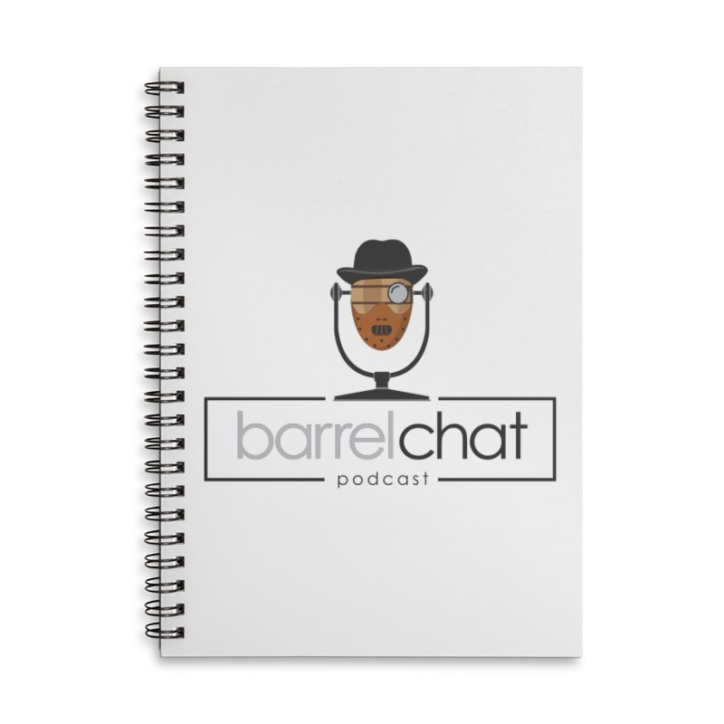 Barrel Chat Podcast - Halloween (Hannibal Lecter) Accessories Lined Spiral Notebook by Barrel Chat Podcast Merch Shop