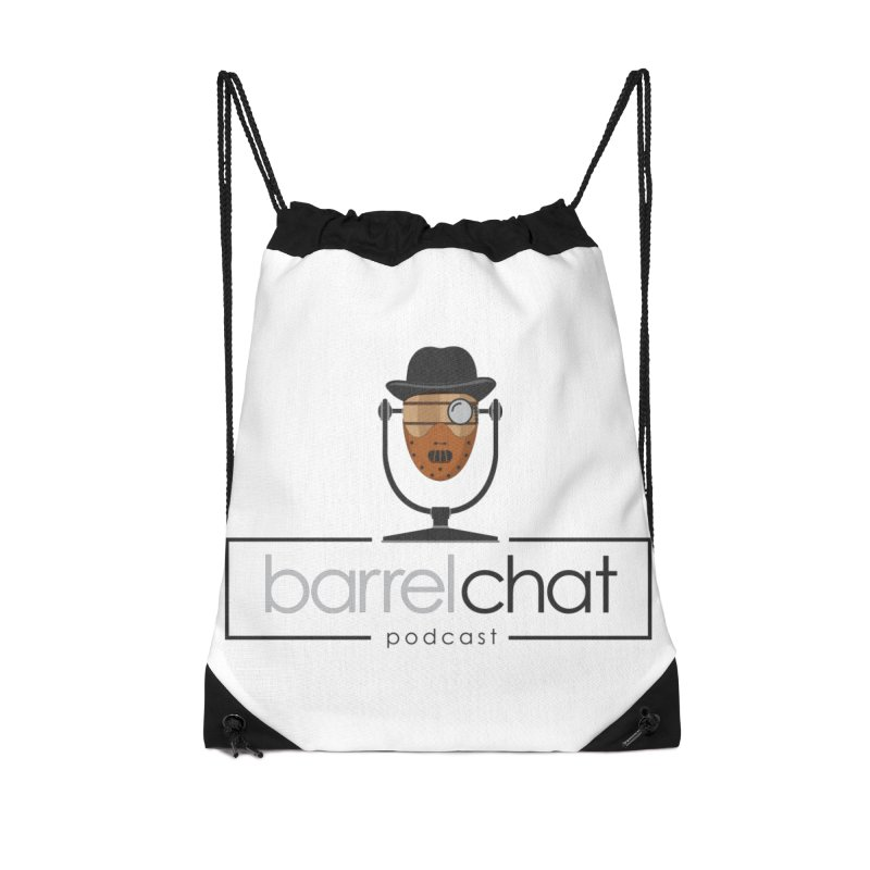 Barrel Chat Podcast - Halloween (Hannibal Lecter) Accessories Drawstring Bag Bag by Barrel Chat Podcast Merch Shop