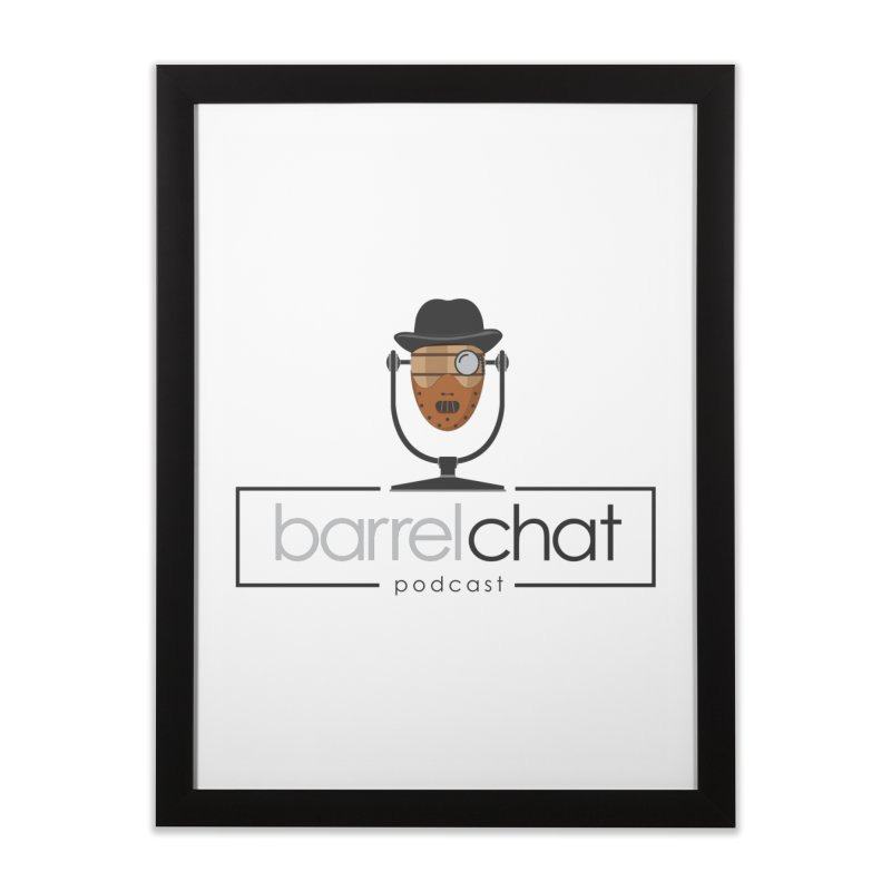 Barrel Chat Podcast - Halloween (Hannibal Lecter) Home Framed Fine Art Print by Barrel Chat Podcast Merch Shop