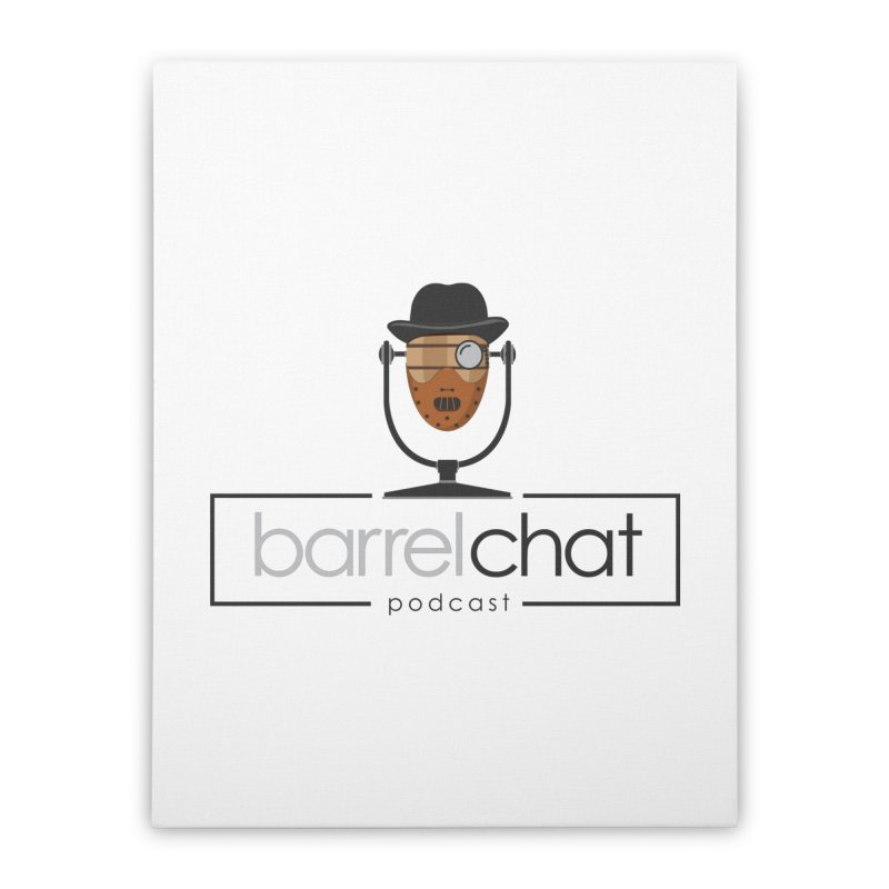 Barrel Chat Podcast - Halloween (Hannibal Lecter) Home Stretched Canvas by Barrel Chat Podcast Merch Shop