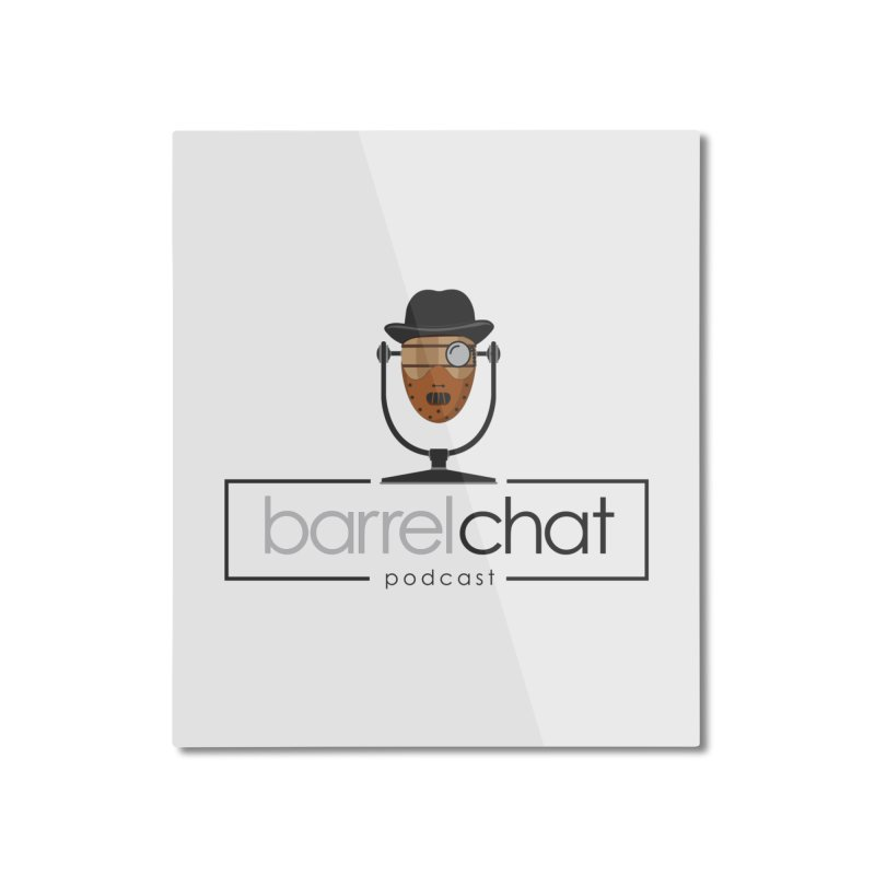 Barrel Chat Podcast - Halloween (Hannibal Lecter) Home Mounted Aluminum Print by Barrel Chat Podcast Merch Shop