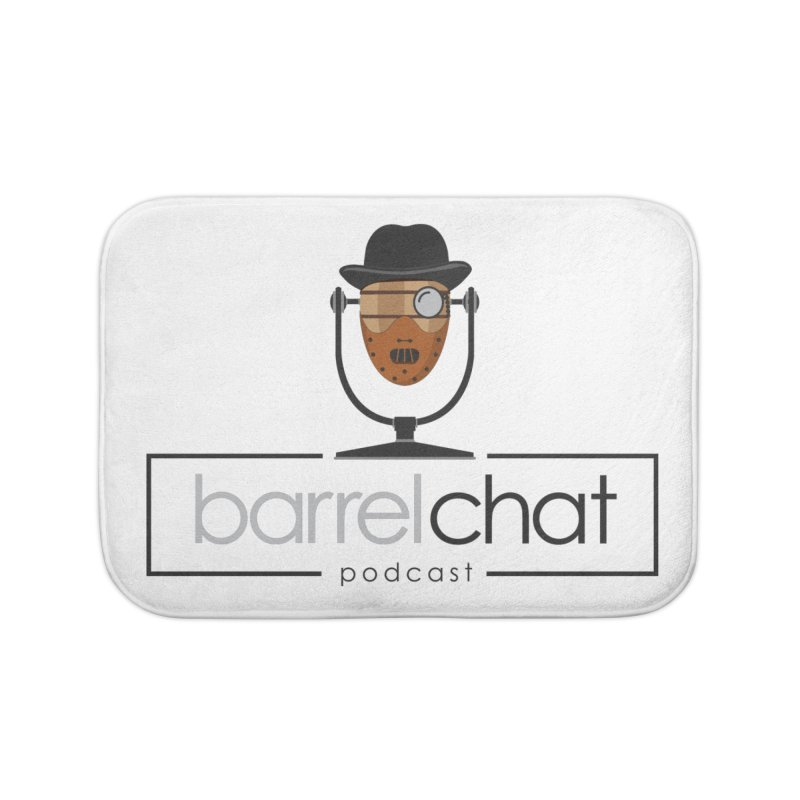 Barrel Chat Podcast - Halloween (Hannibal Lecter) Home Bath Mat by Barrel Chat Podcast Merch Shop