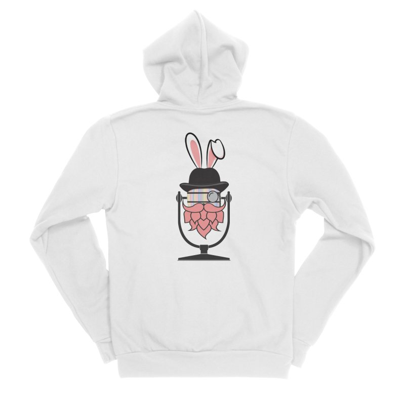Easter Hoppy Women's Sponge Fleece Zip-Up Hoody by Barrel Chat Podcast Merch Shop