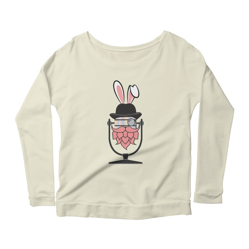 Easter Hoppy Women's Scoop Neck Longsleeve T-Shirt by Barrel Chat Podcast Merch Shop