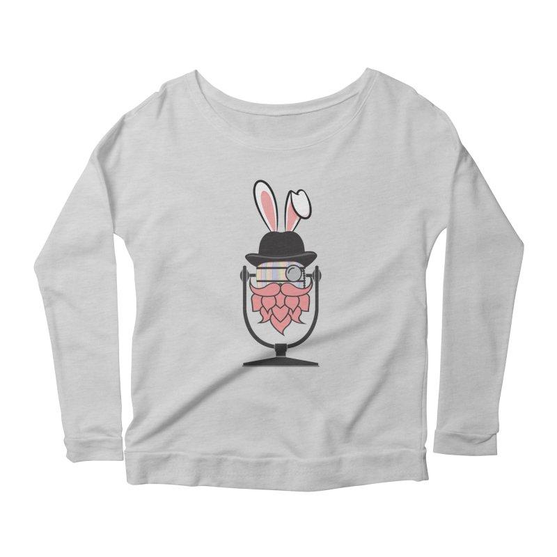 Easter Hoppy Women's Scoop Neck Longsleeve T-Shirt by Barrel Chat Podcast Merch Shop