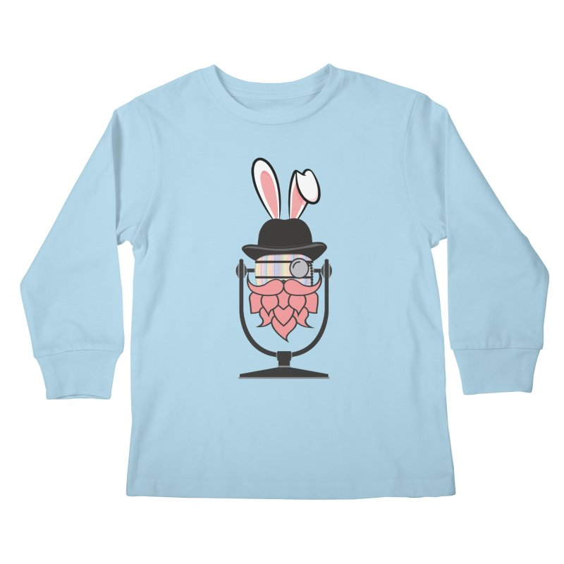 Easter Hoppy Kids Longsleeve T-Shirt by Barrel Chat Podcast Merch Shop