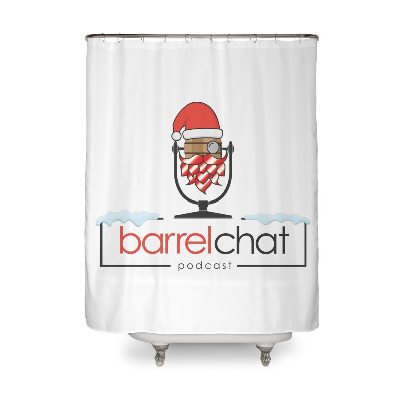 Barrel Chat Podcast - Christmas Home Shower Curtain by Barrel Chat Podcast Merch Shop
