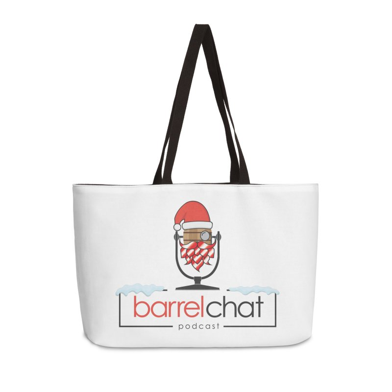 Barrel Chat Podcast - Christmas Accessories Weekender Bag Bag by Barrel Chat Podcast Merch Shop
