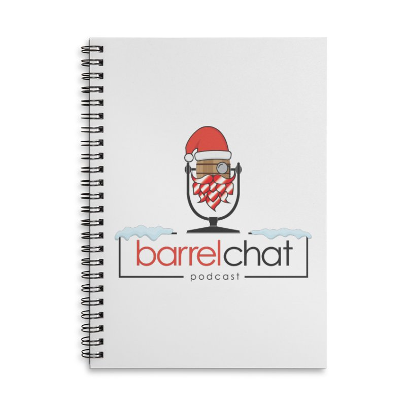 Barrel Chat Podcast - Christmas Accessories Lined Spiral Notebook by Barrel Chat Podcast Merch Shop