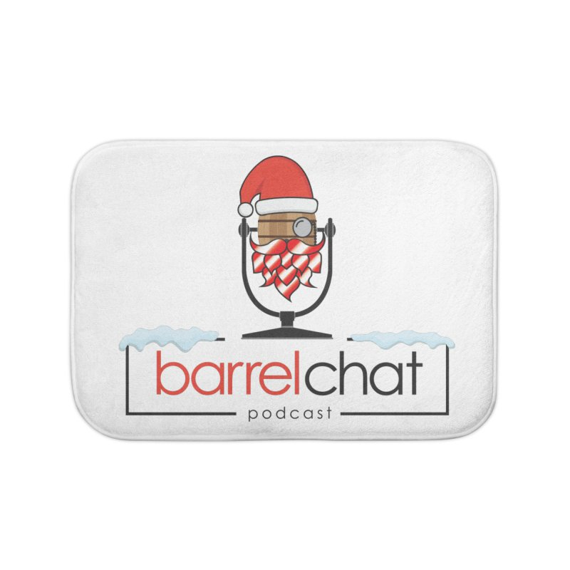 Barrel Chat Podcast - Christmas Home Bath Mat by Barrel Chat Podcast Merch Shop