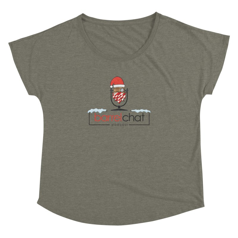 Barrel Chat Podcast - Christmas Women's Dolman Scoop Neck by Barrel Chat Podcast Merch Shop