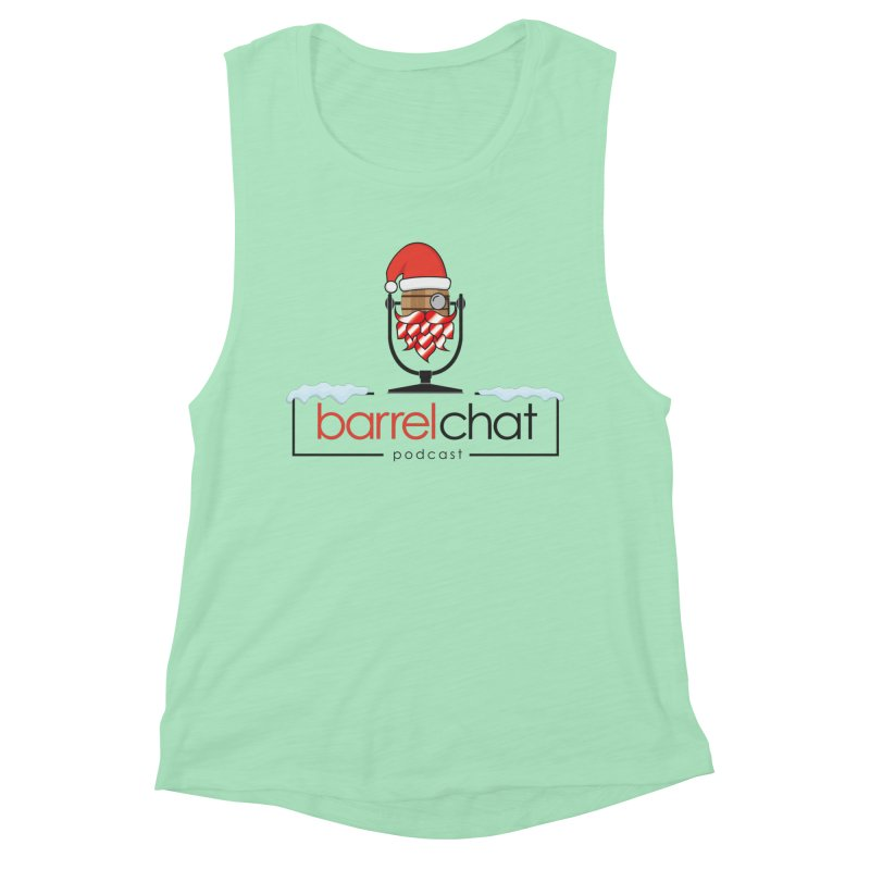 Barrel Chat Podcast - Christmas Women's Muscle Tank by Barrel Chat Podcast Merch Shop