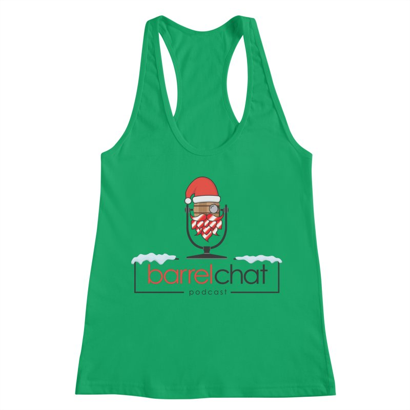 Barrel Chat Podcast - Christmas Women's Racerback Tank by Barrel Chat Podcast Merch Shop