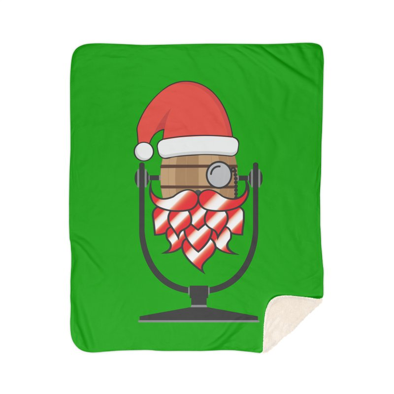 Christmas Hoppy Home Sherpa Blanket Blanket by Barrel Chat Podcast Merch Shop