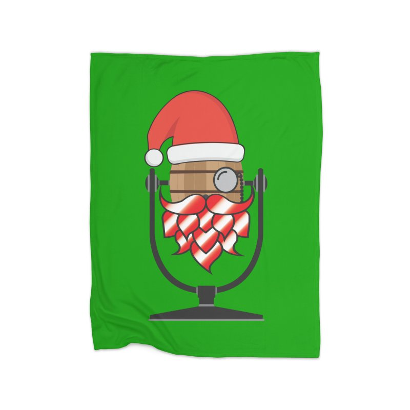 Christmas Hoppy Home Blanket by Barrel Chat Podcast Merch Shop