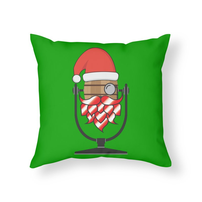 Christmas Hoppy Home Throw Pillow by Barrel Chat Podcast Merch Shop