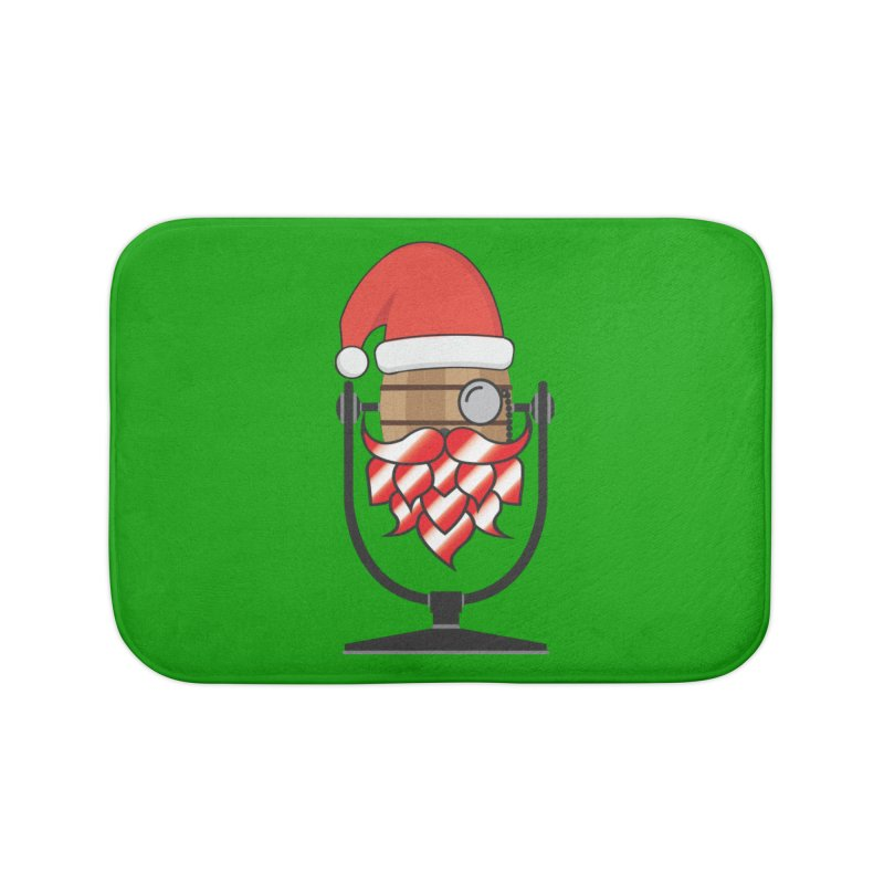 Christmas Hoppy Home Bath Mat by Barrel Chat Podcast Merch Shop