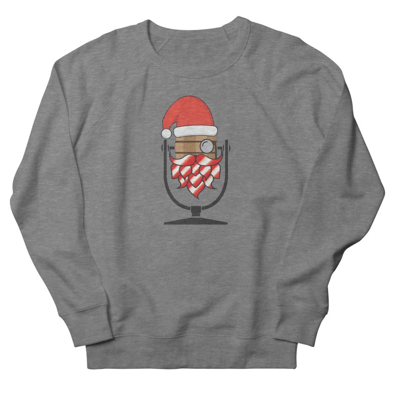 Christmas Hoppy Men's French Terry Sweatshirt by Barrel Chat Podcast Merch Shop